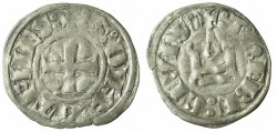World Coins - CRUSADER STATES.GREECE.Dukes of ATHENS.William I of la Roche AD 1280-87 or Guy II of la Roche AD 1287-1308.Bi.Denier.Type GR 105.