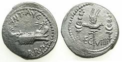 Ancient Coins - ROME.The Triumvirs.Mark Antony  Autumn 32- Spring 31BC.AR.Legionary issue.Patrae mint ? ~#~.LEG VIIII Very rare legionary issue.