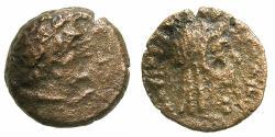 Ancient Coins - PTOLEMAIC EMPIRE.CYRENAICA.CYRENE.Ptolemy IV - Ptolemy VIII circa 221-140 BC. BC.AE.15.3mm