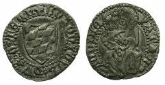 World Coins - ITALY.Patriachy of AQUILEIA.Lodovico II de Teck AD 1412-1437.AR.Denaro.