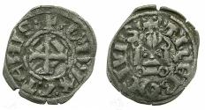 World Coins - CRUSADER STATES.GREECE.Dukes of ATHENS.William I of la Roche AD 1280-87 or Guy II of la Roche AD 1287-1308.Bi.Denier.Type A3. Unpublished variant with Star reverse.