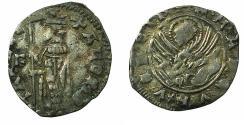 World Coins - ITALY.VENICE.Andrea Contarini AD 1368-1382.AR.Soldino 2nd Type. Sigla F