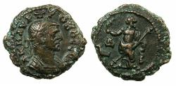 Ancient Coins - EGYPT.ALEXANDRIA.Probus AD 276-282.Billon Tetradrachm, struck AD 278/279. ~#~.Eireme standing holding olive branch