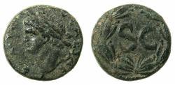 Ancient Coins - SYRIA.SELEUCIA AND PIERIA.Antioch ad Orontem.Domitian AD 81-96.AE.Semis ( 20.5mm ). Left facing bust of Domitian.