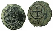 World Coins - ARMENIA, Cilician kingdom. Levon III 1301-1307.AE.Kardez.Mint of SIS. Obverse. King seated in oriental fashion.