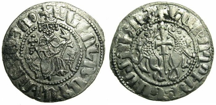 Ancient Coins - CILICIAN ARMENIA.Levon I The Great AD 1199-1219.AR.Tram. ~#~Crowned lions with claws.
