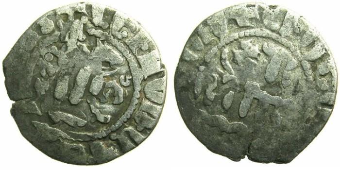 Ancient Coins - CILICIAN ARMENIA.Levon IV AD 1320-1342.AR.Takvorin.Mint of SIS.~~~Mumluk overstrike by Nasir al-Din Muhammad; third period AD 1310-1341.