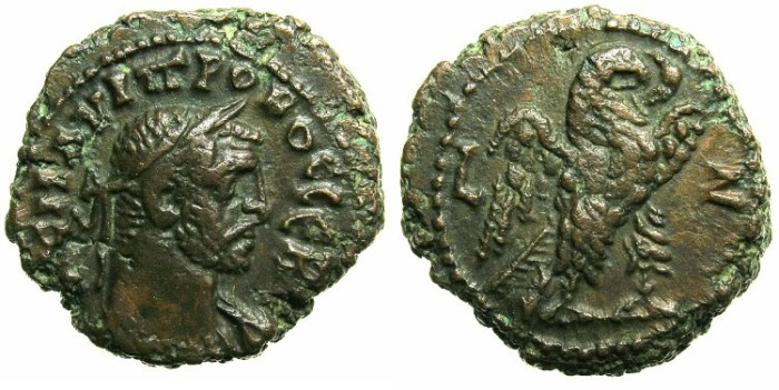 Ancient Coins - EGYPT.ALEXANDRIA.Probus AD 276-282.Billon Tetradrachm.AD 281/82.~~~Eagle right.