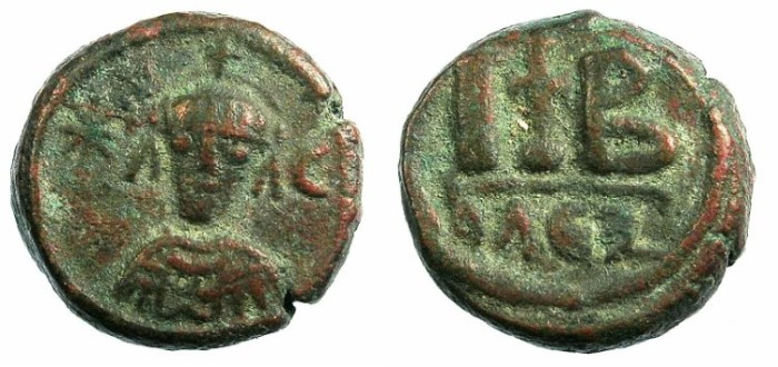 Ancient Coins - BYZANTINE OR PERSIAN issue .12 Nummia.Mint of Alexandria.