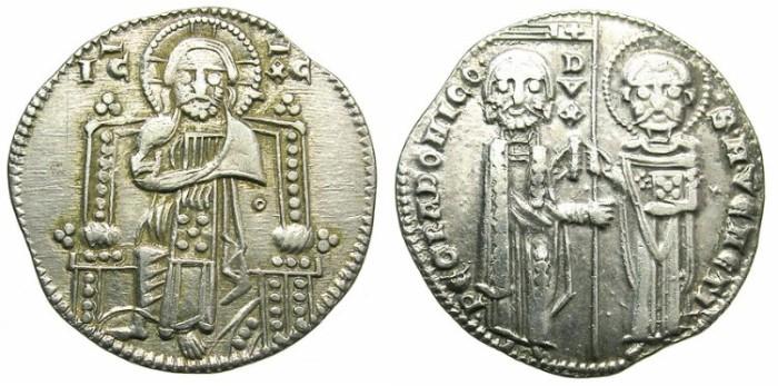 Ancient Coins - ITALY.VENICE.Pietro Gradenigo  AD 1289-1311.AR.Grosso.