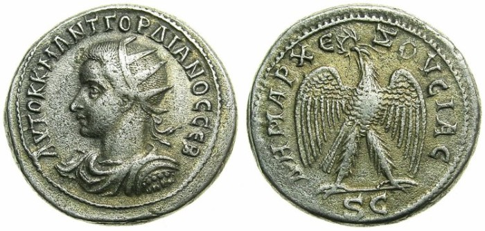 Ancient Coins - SYRIA.ANTIOCH.Gordian III AD 238-244.Billon Tetradrachm.Struck AD 240.