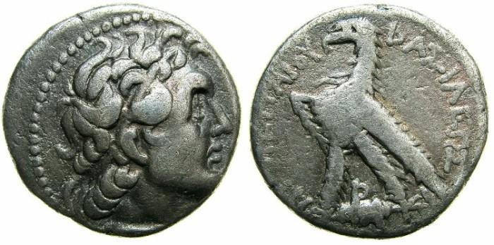 Ancient Coins - PTOLEMAIC EMPIRE.PHOENICIA:ARADUS mint?.3rd-2nd cent BC.AR.Didrachm, Struck 159/8 BC.