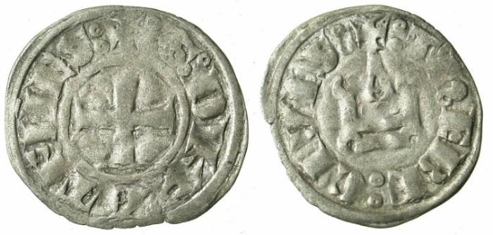 World Coins - CRUSADER STATES.GREECE.Dukes of ATHENS.William I of la Roche AD 1280-87 or Guy II of la Roche AD 1287-1308.Bi.Denier.Type GR 105.