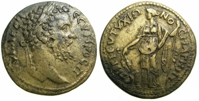 Ancient Coins - IONIA.MAGNESIA AD MAEANDRUM.Septimius Severus AD 193-211.AE.30.7mm.~#~.Demeter ( Ceres ) Standing.****UNPUBLISHED****