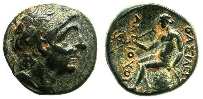 Ancient Coins - SELEUCID EMPIRE.Antiochus I Soter 280-261 BC.AE.16.Antiochus.Apollo.