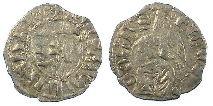 Ancient Coins - ROMANIA.VOIVODES OF WALLACHIA.Radu I 1377-1383.Bi.Denier.