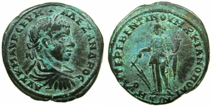 Ancient Coins - MOESIA INFERIOR.MARCIANOPOLIS.Severus Alexander AD 212-235.AE.25mm.~#~.Tyche standling.