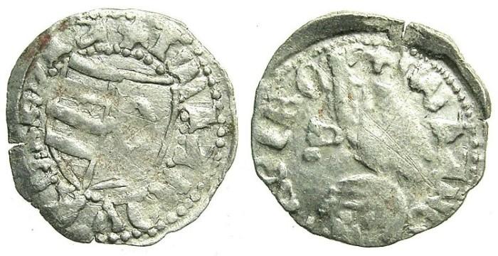 Ancient Coins - ROMANIA.VOIVODES OF WALLACHIA.Dan I 1383-1386.Bi.Denier