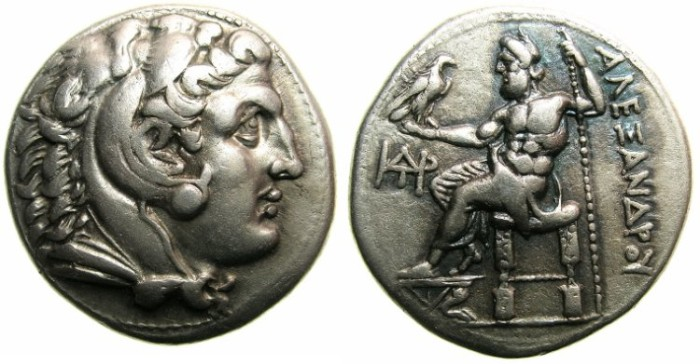 Ancient Coins - MACEDON.Alexander III The Great 336-323 BC.AR.Tetradrachm, posthumus issue struck Circa 310-275 BC.