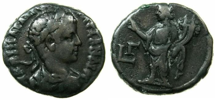 Ancient Coins - EGYPT.ALEXANDRIA.Severus Alexander AD 222-235.Billon Tetradrachm, struck AD 223/224.~#~.Homonia standing.