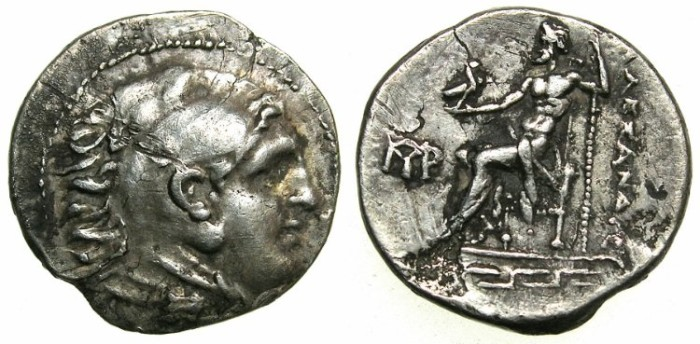 Ancient Coins - MACEDONIA.Alexander III The Great 336-323 BC.AR.Drachma, posthumus issue.Mint of MAGNESIA AD MAEANDRUM