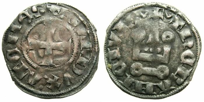 Ancient Coins - CRUSADER.Dukes of ATHENS.Guy II of la Roche AD 1287-1308.Bi.Denier.Type 1e.