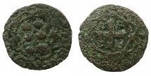 World Coins - CRUSADER STATES.MYTILENE, under GENOA.Francesco II Gattiluso AD 1384-1403.AE.Denaro.