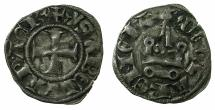 World Coins - CRUSADER STATES.GREECE.Principality of ACHAIA.Isabella of Villehardouin AD 1289-1297. Bi.Denier.Type Y2.