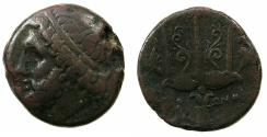 Ancient Coins - SICILY.Syracuse.Hieron II 274-216 BC.AE.20.7mm.