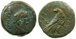 Ancient Coins - EGYPT.ALEXANDRIA.Claudius AD 41-54.AE.Diobol,struck AD 52/53. ~#~Ptolemaic style Eagle.