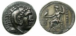 Ancient Coins - MACEDON.Alexander III 336-323 BC.'Electrotype'Tetrachma after Amphipolis mint.British Museum Electrotype by Robert Ready.
