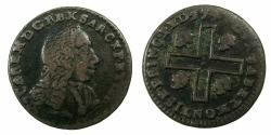 World Coins - ITALY.SARDINIA.Carlo Emanuelle III 1730-1773.AE Cagliarese Vecchio.2nd Type.1741.Mint of TURIN.