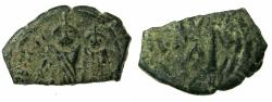 Ancient Coins - PSEUDO BYZANTINE.7th cent AD.AE.Fals.after Heraclius ( 610-641 ). Reverse.After Thessalonica mint signature.
