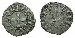 World Coins - CRUSADER.Principality of Achaia.Philip de Taranto AD 1307-1313.Bi.Denier.variety PT1.