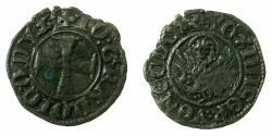 World Coins - CRUSADER.GREECE under VENICE.Giovanni Gradenigo AD 1355-1356.Bi.Tornesello. RARE.