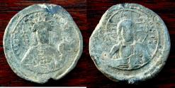 Ancient Coins - BYZANTINE EMPIRE.Erine Doukaina, Wife of Alexius I AD 1081-1118.Lead Seal.33mm.