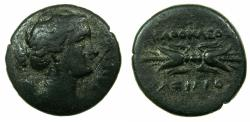 Ancient Coins - SICILY.SYRACUSE.Agathocles 317-289 BC.3rd peiod of reign struck 304-289BC. AE.