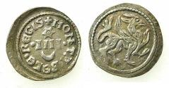 World Coins - HUNGARY.Bela IV AD 1235-1270.AE.Dinar. Griffin