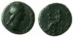 Ancient Coins - ROMAN.Sabina Augusta AD 117-136/37, wife of Hadrian.AE.As.Reverse.Vesta.