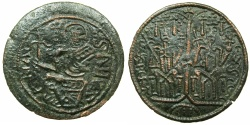 World Coins - HUNGARY.Bela III AD 1172-1196.AE Follaro, flat issue.