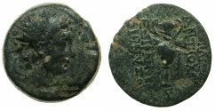 Ancient Coins - SELEUCID EMPIRE.Antiochus VI 144-142/1 BC.AE.Mint of ANTIOCH. ~#~. Kantharos.