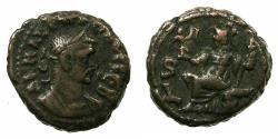 Ancient Coins - EGYPT.ALEXANDRIA.Probus AD 276-282.Billon Tetradrachm.AD 280/81. ~#~.Athena enthroned. Regnal year 6 very rare.