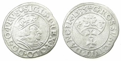World Coins - Sigismund I The Old AD 1506-1548.AR.Grosch 1535.DANZIG.
