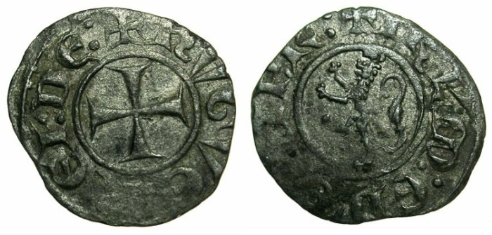 Ancient Coins - CRUSADER STATES.CYPRUS.Hugh III AD 1267-1284.Bi.Denier.