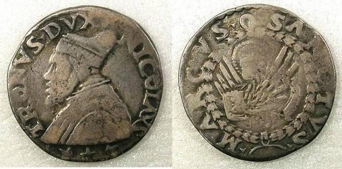 Ancient Coins - ITALY.Venice. Nicolo Tron 1471-1473 AR.Lira Tron