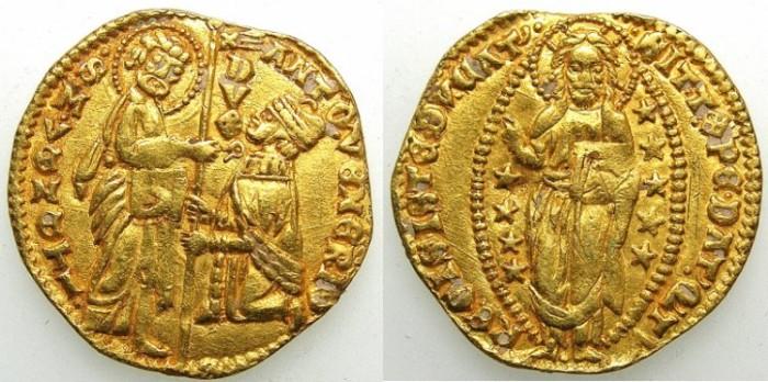 Ancient Coins - ITALY.Venice.Antonio Venier 1382- 1400.AV.Ducato