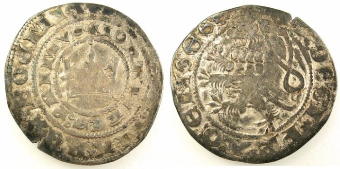Ancient Coins - BOHEMIA.John of Luxembourg  AD 1310-1346.AR.Prague Groschen..Kutna Hora mint.
