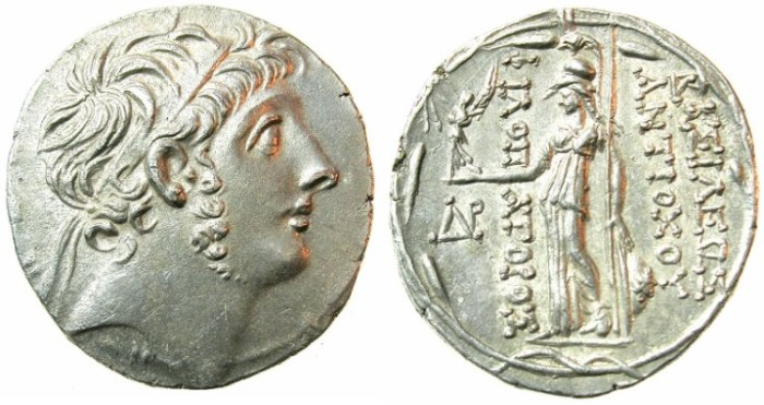 Ancient Coins - SELEUCID EMPIRE.Antiochus IX Philopator 114/13-96/95 BC.AR.Tetradrachm.Mint of AKE-PTOLEMAIS