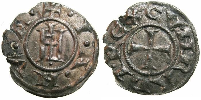 Ancient Coins - ITALY.GENOA.Republic AD 1139-1339.AR.Grosso da 4 denari.