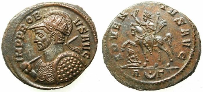 Ancient Coins - ROMAN.Probus AD 276-282.Antoninianus.Emperor riding left.